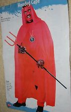 Red Hooded Cape Adult One Size Full Cut Devil Little Red Riding Hood Halloween