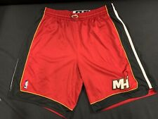 MIAMI HEAT #45 HASSAN WHITESIDE ADIDAS USED RED GAME SHORTS SIZE 4XL +2 LENGTH