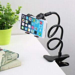 Flexible 360° Clip Mobile Cell Phone Lazy Bed Desktop Bracket Mount Holder Stand