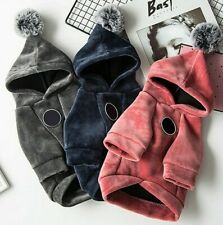 Winter Warm Dog Hooded Coat Soft Pet Clothes Pullovers Soft Fleece Pet Sweater
