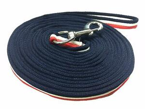 Horse Lunging Rein Training Lunge Line 4 Metre Red/White/Navy Pack of 2,3,5,8,10