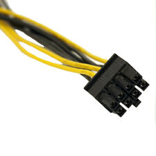 Dual Molex LP4 4 Pin to 8 Pin PCI-E Express Converter Adapter Power Cable Wire