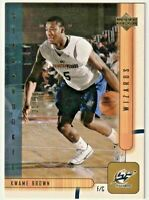 2001-02 Upper Deck UDX #225 Kwame Brown RC sn 31/50