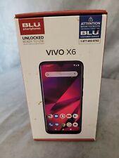 BLU Smartphone Unlocked VIVO X6-6.1 HD+ Display 64GB+3GB RAM Gradient Blue