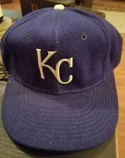 VINTAGE KANSAS CITY ROYAL PRO MODEL HAT BLUE SNAPBACK NICE SHAPE! RARE!