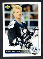 Mikael Andersson #103 signed autograph auto 1992-93 Upper Deck Hockey Card