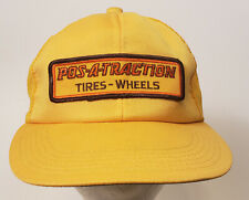 Vintage Pos-A-Traction Tires & Wheels Snapback Trucker Hat