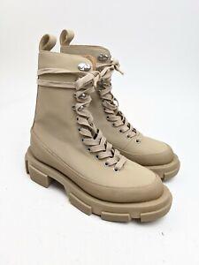 $590 BOTH Gao Brown High Chunky Platform Boots Sz 6.5 US