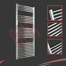 600mm(w) x 1400mm(h) Curved Chrome Heated Towel Rail 2719 BTUs Radiator Warmer