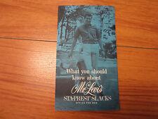 Vint salesman catalog advertisement  What you should know Mr. levi's STA-PREST