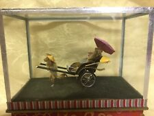 Mini Rickshaw Bug Figurine Under Glass *Rare Unique*