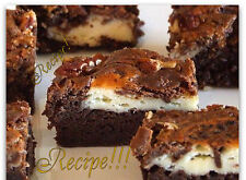 "☆Cream Cheese Swirl Brownies with Heath Bars and Pecans ""RECIPE""!☆Addictive!!!☆"