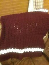 Small Crochet Lap Throw Afghan Blanket (Handmade)