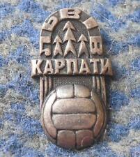 KARPATY LVIV UKRAINE SOCCER FOOTBALL FUSSBALL 1960's SILVER 800 RARE PIN BADGE