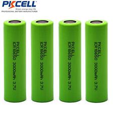 4x 3000mAh PKCELL 18650 Li-ion Rechargeable Battery Batería Pila 3.7V
