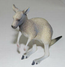 "Kangaroo Science & Nature Australia Hard Gray Plastic Animal 5"" Marsupial Vtg"