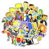 50x Simpsons Movie Cartoon Stickers Luggage Laptop Skateboard Guitar Bomb Decals