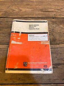 Decks Brown 1410 1412 Tractors Instruction Manual Ship Parts List Operators Book