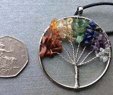 Life Tree Pendant Necklace - Gift - Quartz Gemstone Healing Crystal