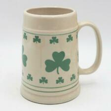 Vintage Ireland Shamrock St. Patrick's Day Green & White Mug