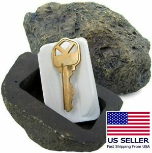 Fake Rock Hidden Spare Key Holder For Yard Driveway Lawn natural appearance