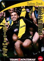 ✺New✺ 2019 RICHMOND TIGERS AFL Premiers Card SYDNEY STACK Teamcoach