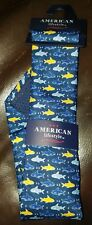 American Lifestyle Sharks100% Microfiber Tie in Navy Blue
