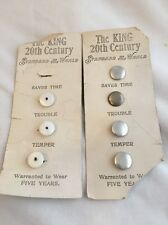 Vintage Button Cuff The King 20th Century Lot