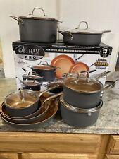 Gotham Steel Professional Hard Anodized Pot Pans 13 Pc Premium Titanium Cookware