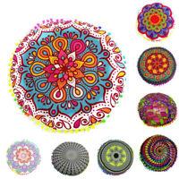 Indian Mandala Floor Pillows Round Bohemian Cushion Cushions Pillow Cover Case