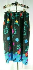 UMI COLLECTIONS Anne Crimmins Vintage VTG 80s Silk Asian Print Skirt Size 12 TF