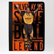 Toro Wolverhampton Cuero Funda Ipad Tableta Cubierta de la leyenda del fútbol regalo LG72