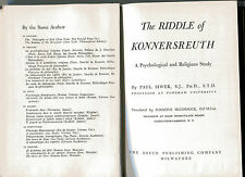 PAUL SIWEK The Riddle of Konnersreuth Vintage HB 1953 Theresa Neumann Healer