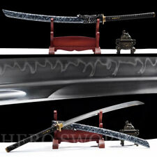 "46"" NAGINATA Japanese samurai sword Clay Tempered T1095 Steel Razor Sharp Katana"
