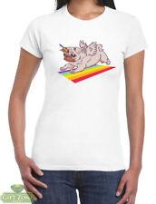 Pug Unicorn Womens T-Shirt