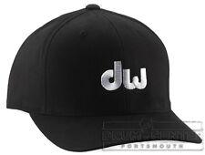 DW Drumwear : Black Flex Fit Hat W/ Embroidered White Dw Logo- L/Xl - PR10HAT04L
