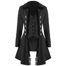 Womens Retro Victorian Corset Rock Steampunk Gothic Coat Tailcoat Cosplay Jacket