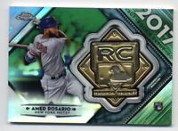 2018 Topps Chrome AMED ROSARIO Rookie Debut RC GREEN REFRACTOR MEDALLION #/99