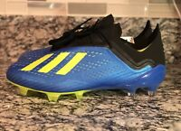 27c204a59b Adidas X Energy Mode 18.1 FG CM8365 Blue Solar Yellow Soccer Cleats ...
