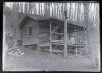 """Lot of 11 Glass Negatives, 5"""" X 7"""", Cabin in the woods, box dated 1909"""