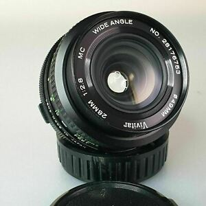 Vivitar  28mm f: 2.8 Wide angle lens Olympus OM mount. Superb condition
