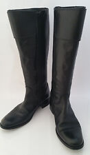 Lavorazione Artigiana Zip Boots Women 7.5 (EU 37) Black Buckle Leather Knee High