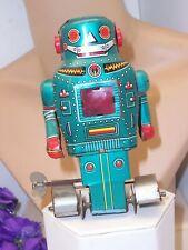 Vintage Tin Mechanical Mighty Robot Wind Up Noguchi Shoten made in Japan