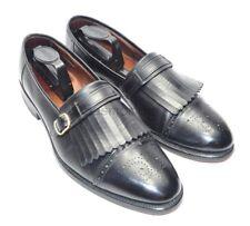 Mens Allen Edmonds Montague Dress Shoes Black Sz 11C Cap Toe Kiltie Monk Strap
