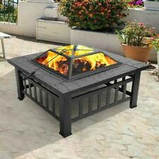 New listing Portable Courtyard Metal Fire Bowl with Accessories Black
