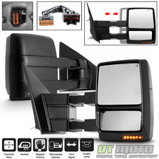 V2 Left+Right 2004-2014 Ford F150 Power+Heated+LED Signal+Puddle Tow Side Mirror