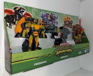 Transformers Dinobot Adventures Rescue Bots Predaking Grimlock Snarl 3 Pack Set