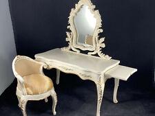 New ListingDoll House Miniatures Furniture: Vanity Desk With Mirror Bedroom Makeup Table