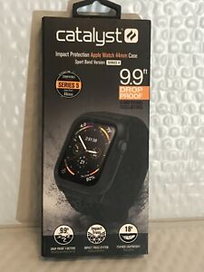 Catalyst - Impact Protection Case for Apple Watch® 44mm - Stealth Black  NEW!!