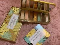 TOO FACED SPARKLING PINEAPPLE EYE SHADOW PALETTE BOXED FULL SIZE AUTHENTIC